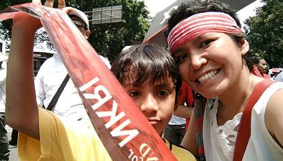 Keriuhan pesta demokrasi, kesempatan anak homeschooler belajar soal politik. (Dok. AM)
