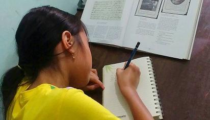 Sebaris demi sebaris, anak pun mahir menulis. (Dok. MSP)