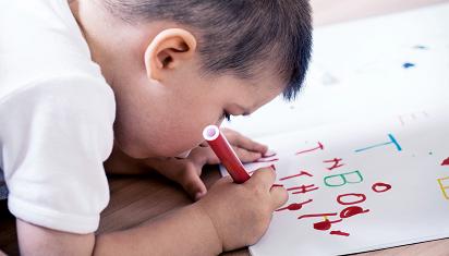 Anak belajar menulis. (Dok. Istimewa)